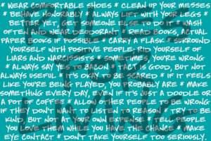 Showpony Rules For Living
