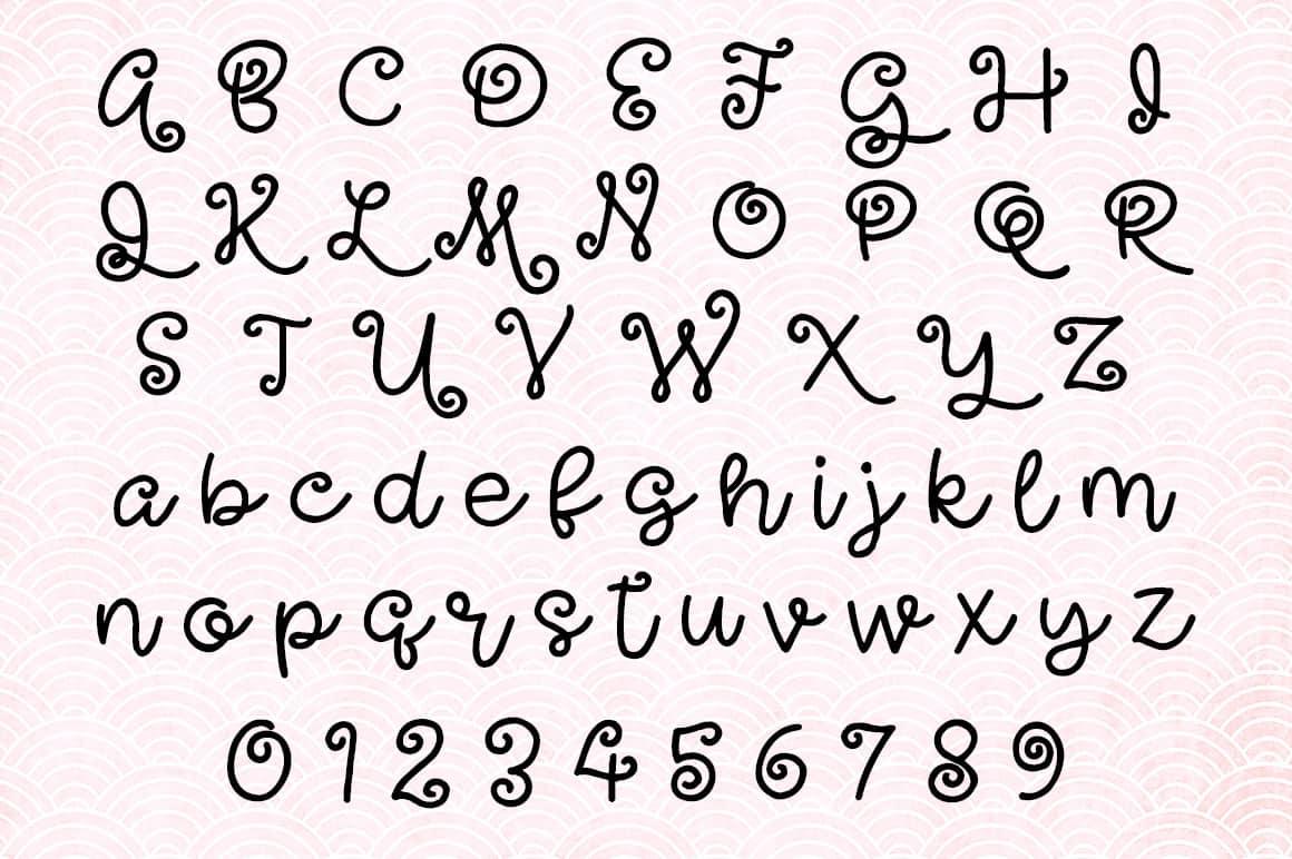 Undulant Alphabet