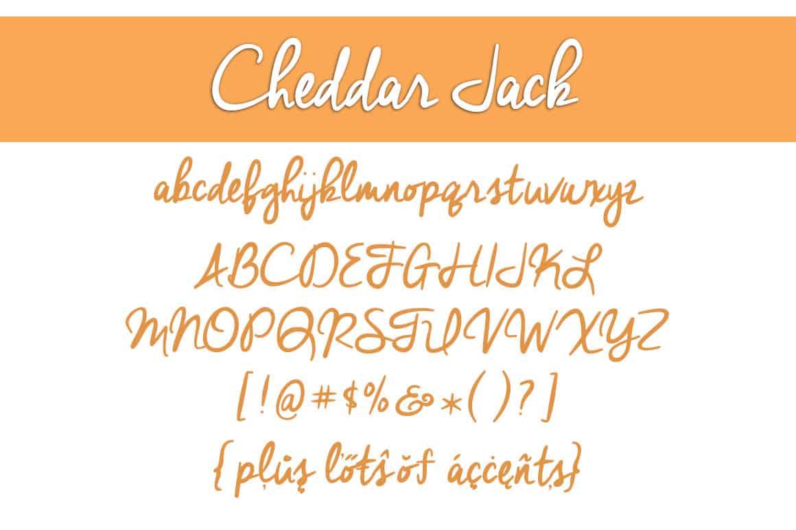 Cheddar Jack Letters