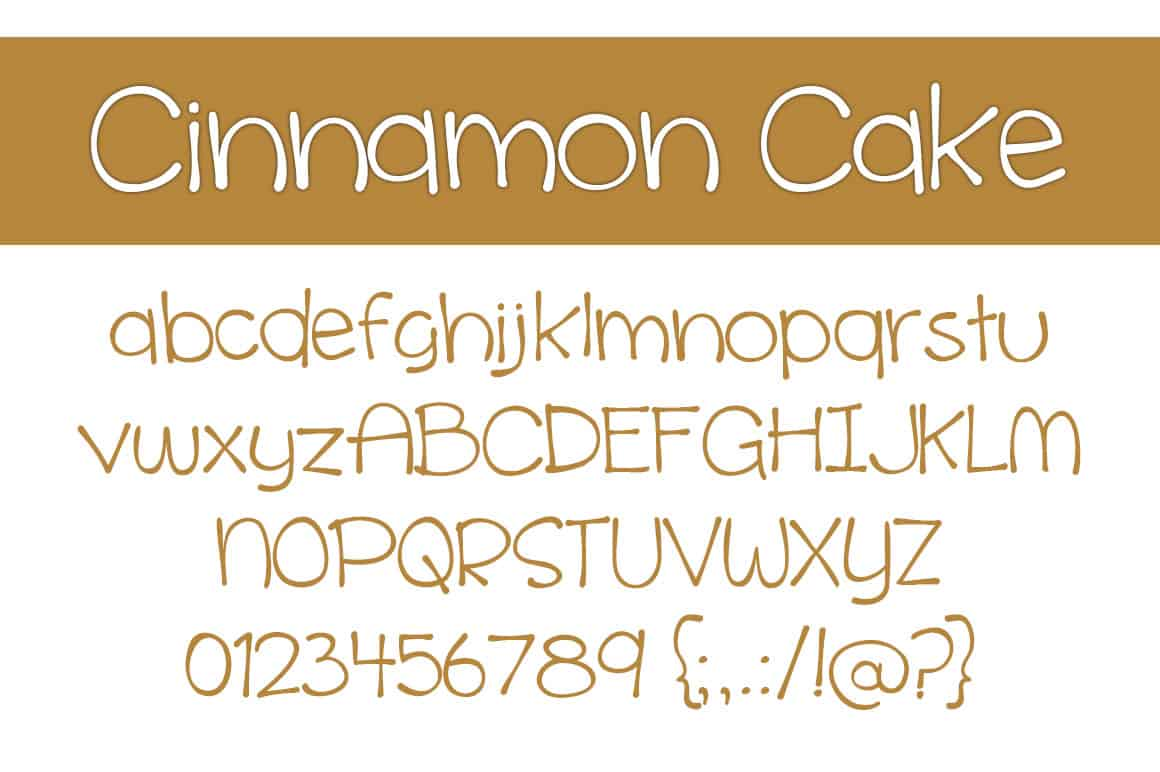 Cinnamon Cake Letters
