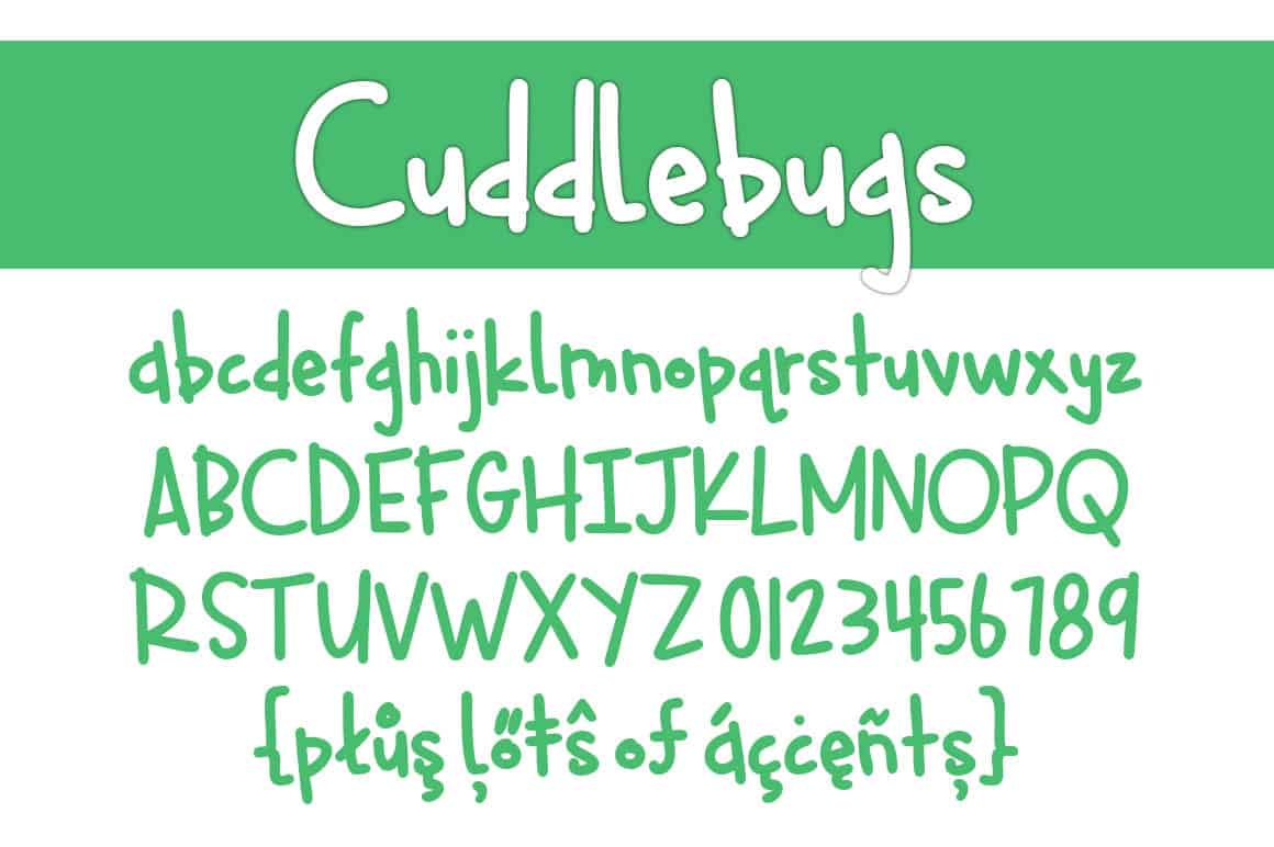 Cuddlebugs Letters