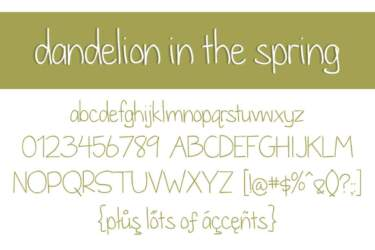 Dandelion In The Spring Letters