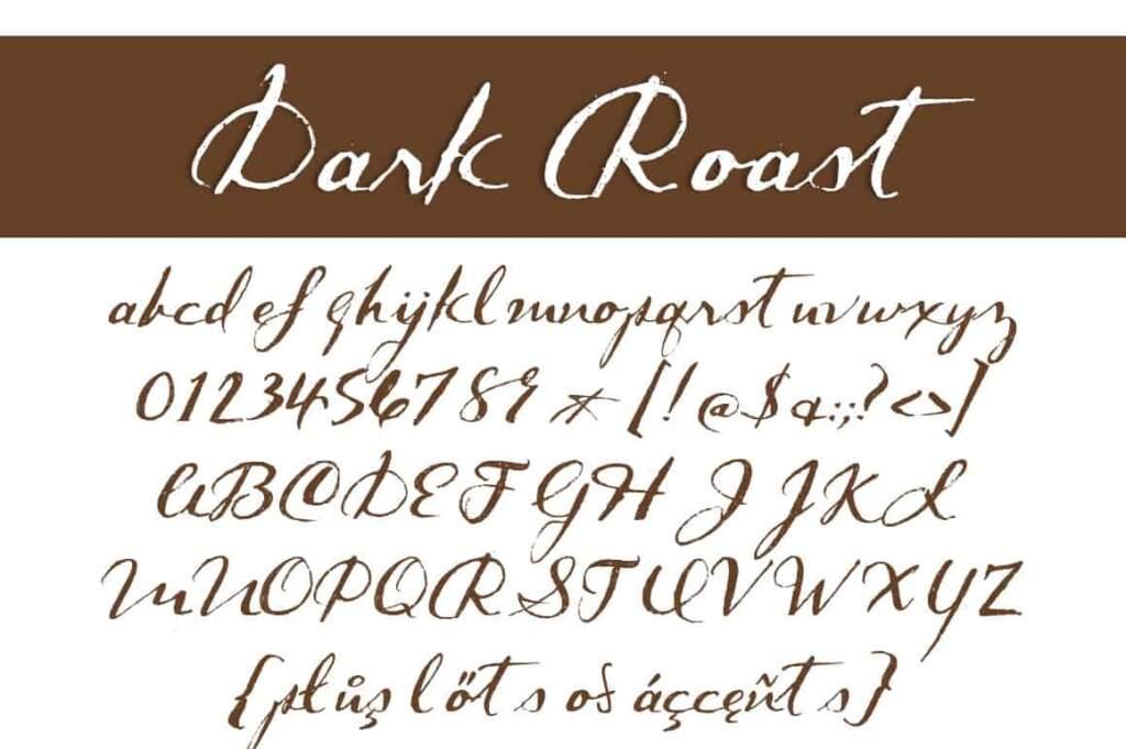 Dark Roast Letters