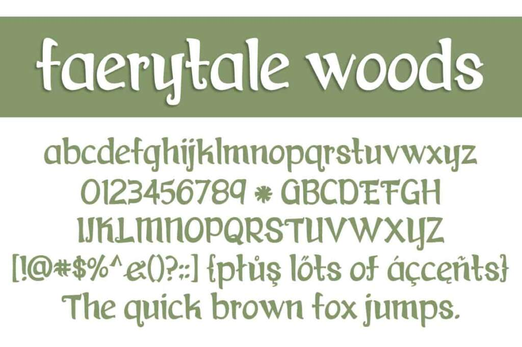 Faerytale Woods Letters