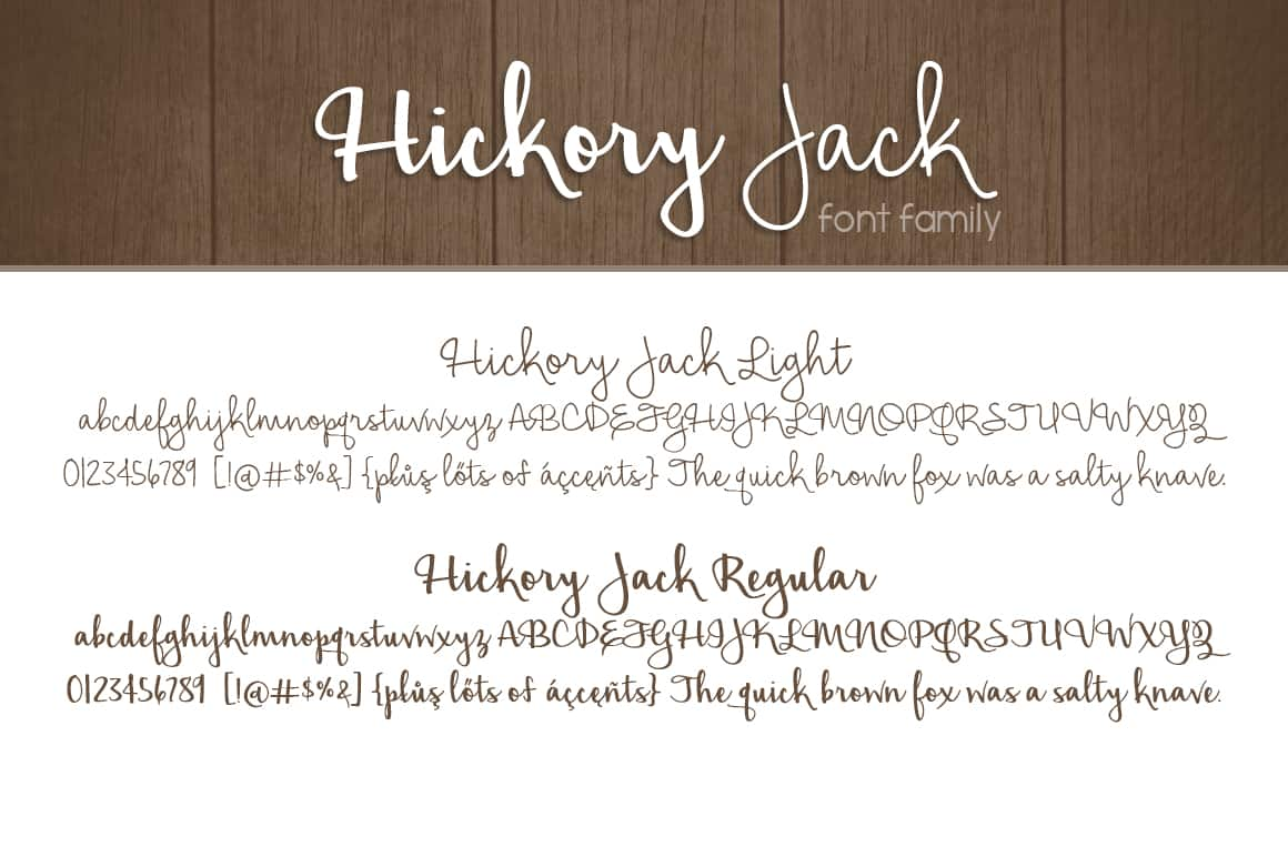 Hickory Jack Ff Letters
