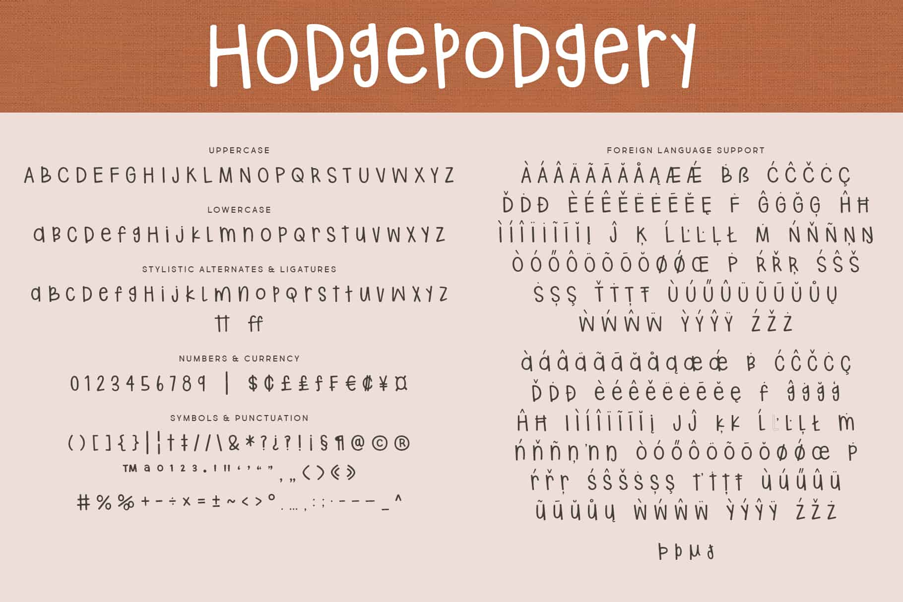 Hodgepodgery Letters