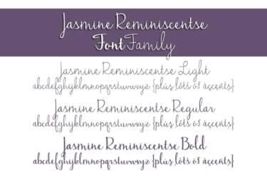 Jasmine Reminiscentse Font Family Letters