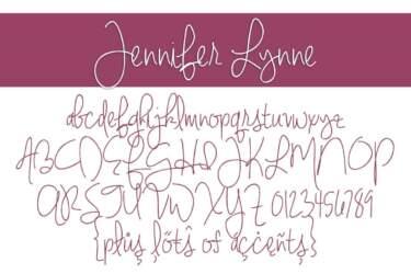 Jennifer Lynne Regular Letters
