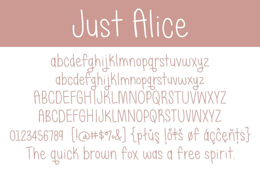 Just Alice Letters
