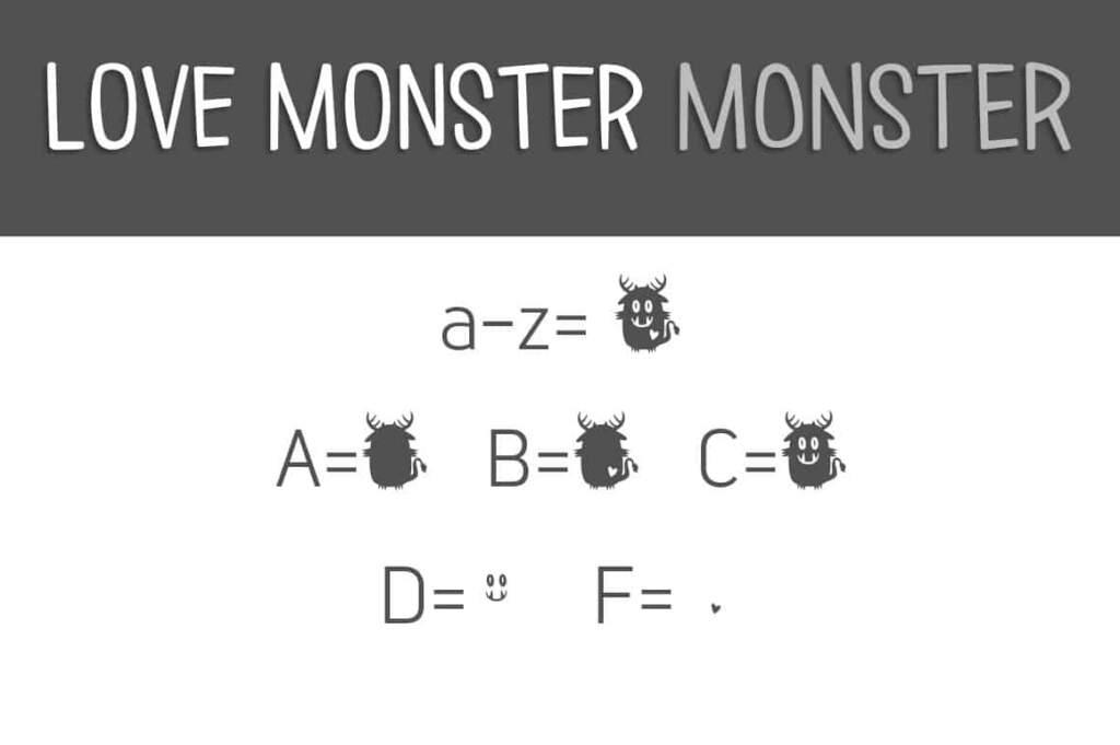 Love Monster Monster Letters