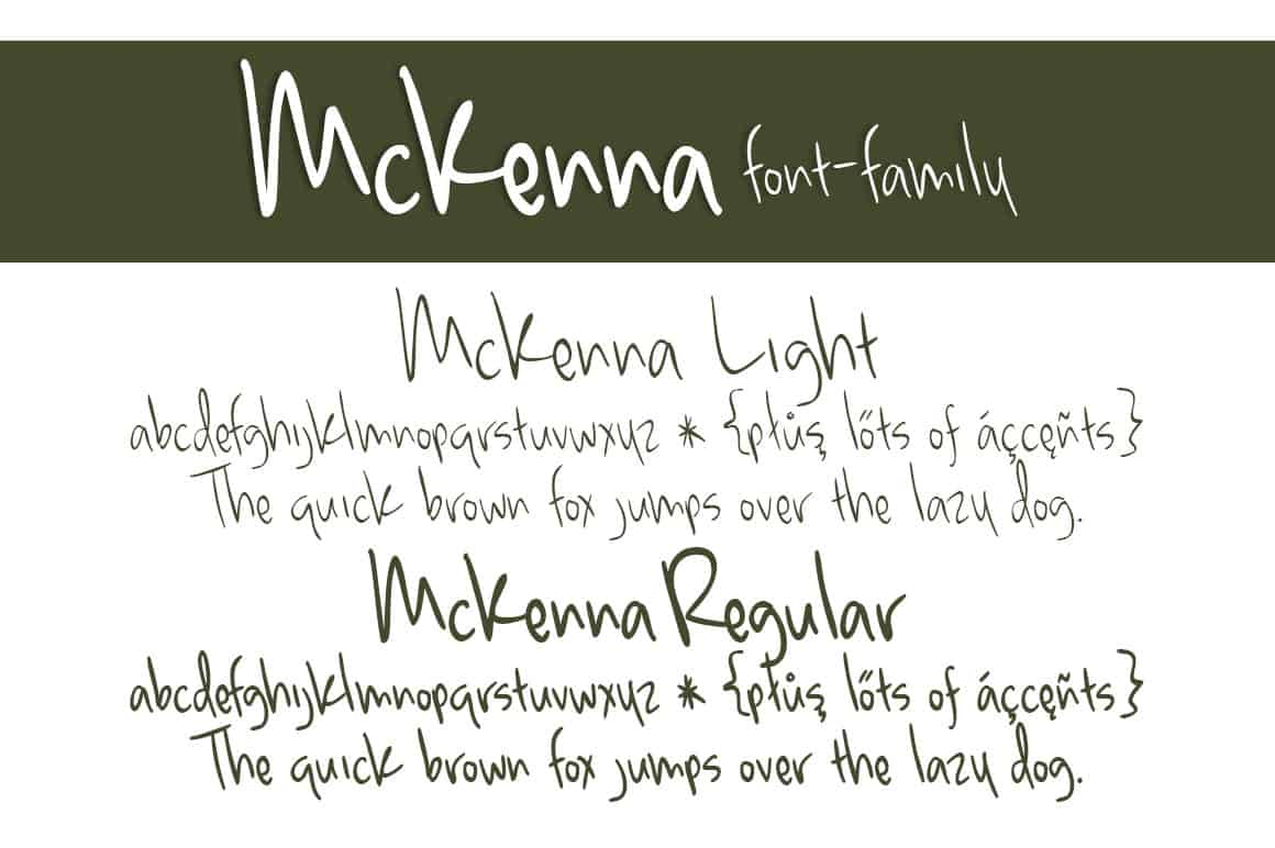 Mckenna Font Family Letters