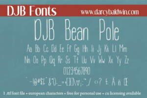 Djbfonts Beanpole2