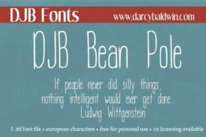 Djbfonts Beanpole3
