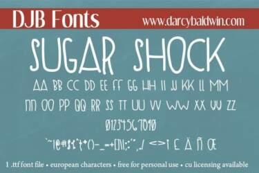 Djbfonts Sugarshock2