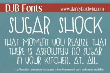 Djbfonts Sugarshock3