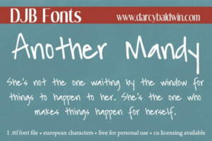 Djbfonts Anothermandy2