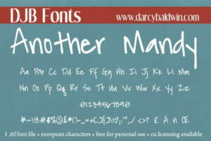 Djbfonts Anothermandy3