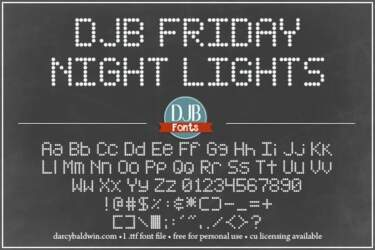 Djbfonts Fridaynightlights3