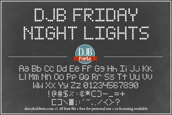 Djbfonts Fridaynightlights3