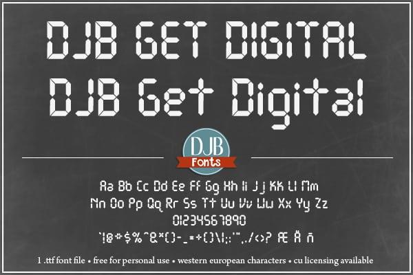 Djbfonts Getdigital3