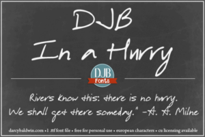 Djbfonts Inahurry