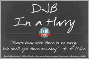 Djbfonts Inahurry2