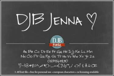 Djbfonts Jenna2