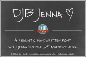 Djbfonts Jenna3