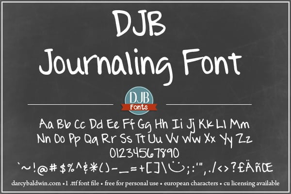 Djbfonts Journalingfont 3