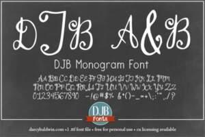 Djbfonts Asimplemonogram3