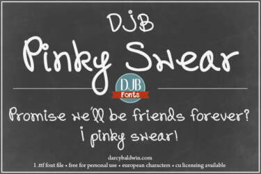Djbfonts Pinkswear Soc