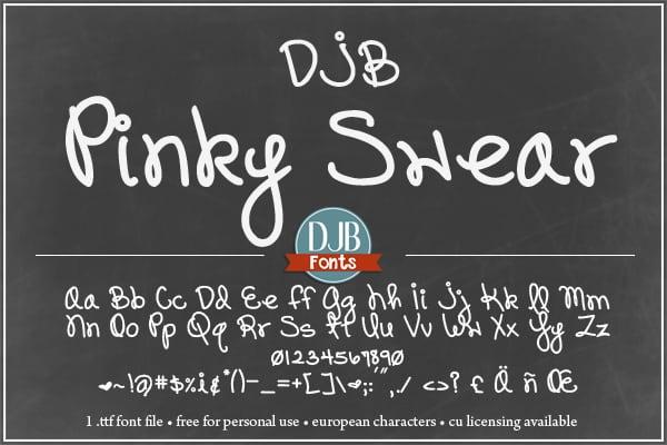 Djbfonts Pinkswear Soc2