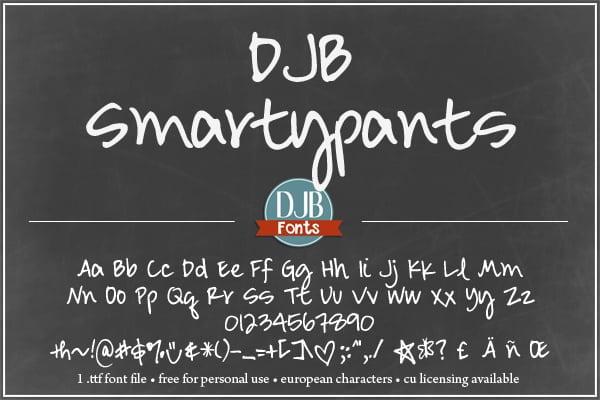 Djbfonts Smartypants3