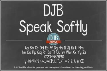 Djbfonts Speaksoftly3