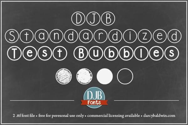 Djbfonts Standardizedtest 2