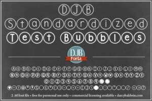 Djbfonts Standardizedtest 3