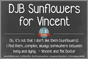 Djbfonts Sunflowersforvincent 2