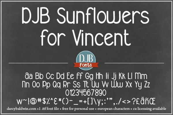 Djbfonts Sunflowersforvincent 3