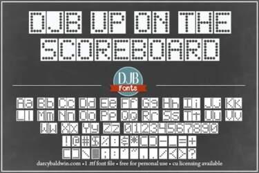 Djbfonts Uponthescoreboard 3