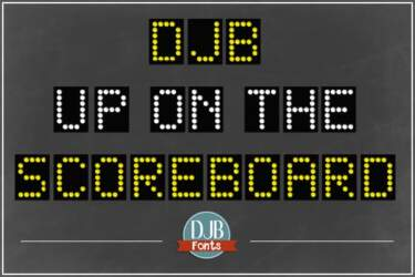 Djbfonts Uponthescoreboard 4