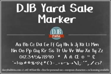Djbfonts Yardsalemarker 3