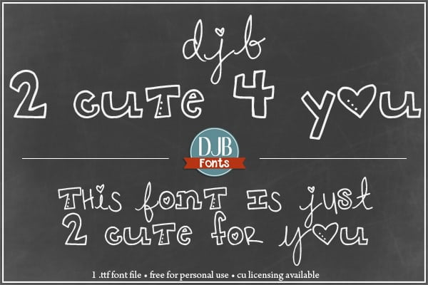 Djbfonts 2cute 3