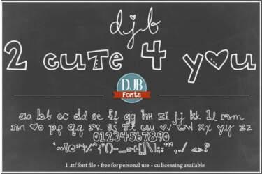 Djbfonts 2cute 4