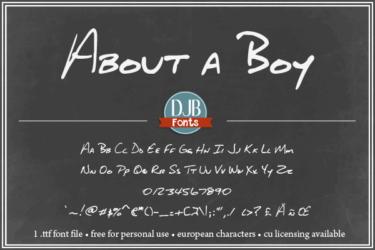 Djbfonts Aboutaboy3