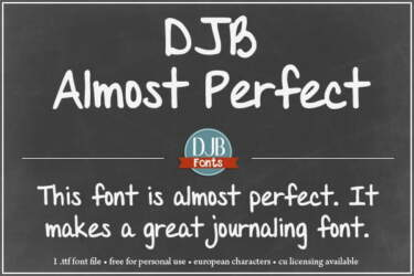 Djbfonts Almost Perfect 1