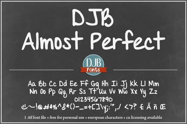 Djbfonts Almost Perfect 2