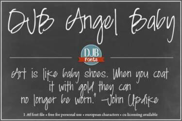 Djbfonts Angelbaby2a