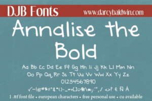 Djbfonts Annalise3