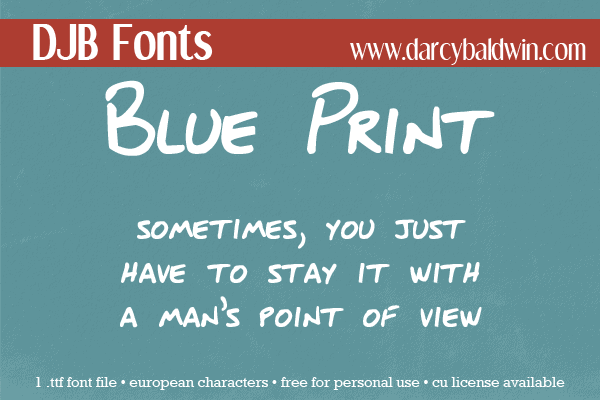 Djbfonts Blueprint