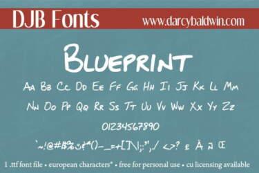 Djbfonts Blueprint2